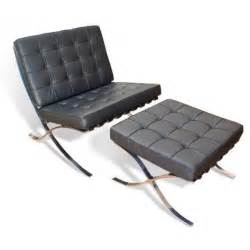 barcelona chair and ottoman by ludwig mies der rohe