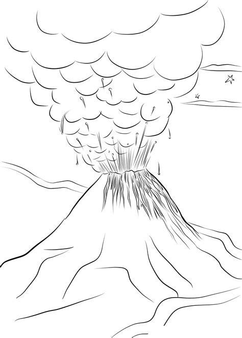 √14+ Mewarnai Gambar Gunung Merapi Untuk TK, SD, PAUD