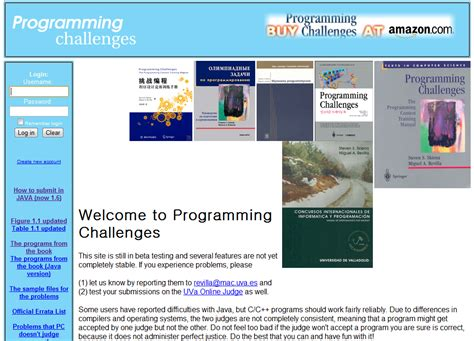 programming challenge 알고리즘 사이트 programming challenges