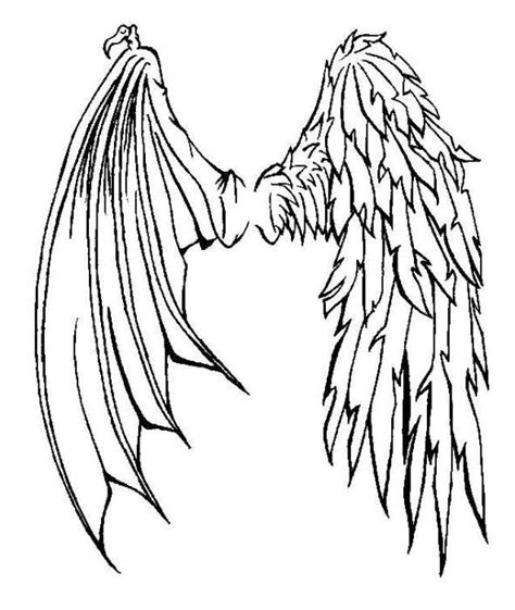 half angel half demon tattoo designs half half wings tattoos