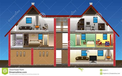 4 Bedroom Modern House Plans vector house stock image image 9230571