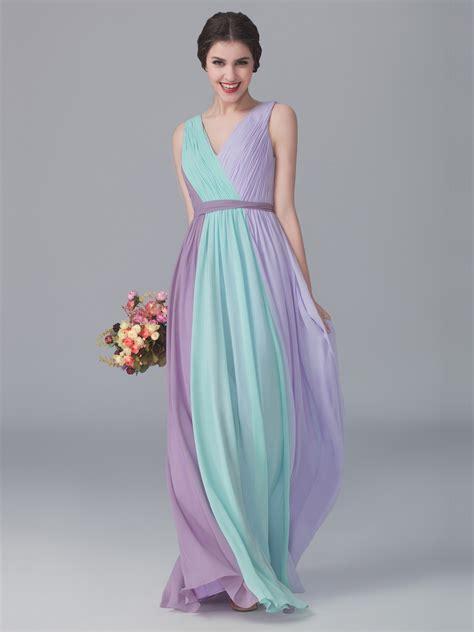 lavender color dress tri tone v neck dress color mint green color pastel