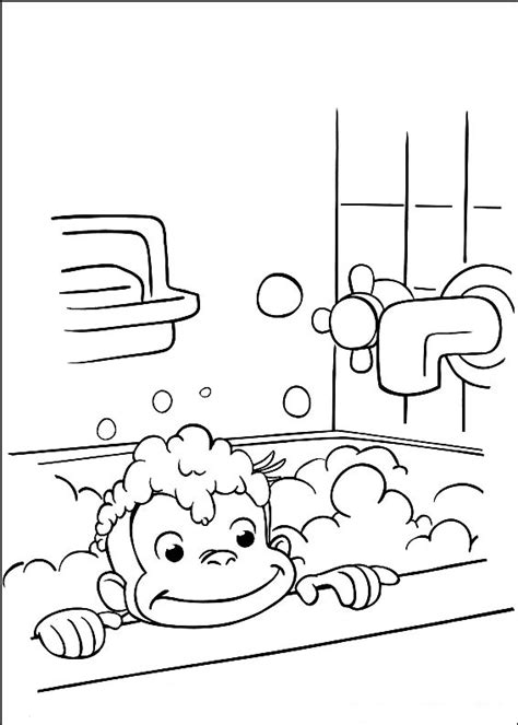 Curious George Coloring Pages Free Printable Pictures Printable Curious George Coloring Pages