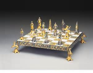 chess set luigi xiv re sole secolo xvii gold and silver themed chess set