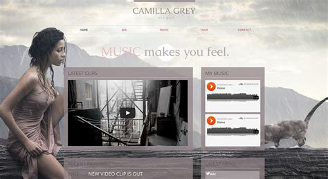 Singer Wix Website Template 47284 Wix Website Templates For Sale