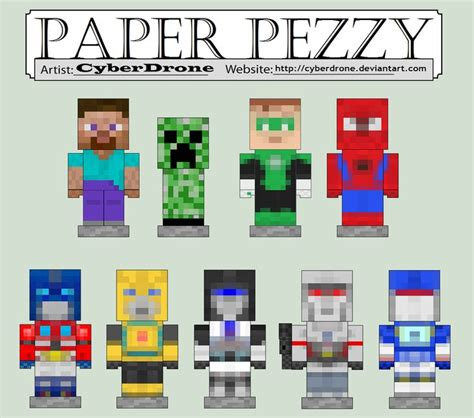 How To Make Paper Minecraft Characters - 16 best images about minecraft on s day