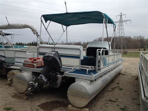 pontoon boats for sale used ontario harris 24 harris pontoon 1996 used boat for sale in