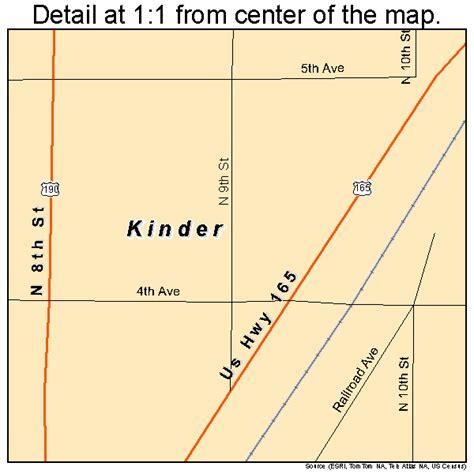 kinder le kinder louisiana map 2239755