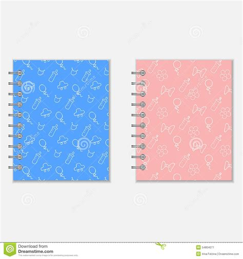 design diary cover mothers diary covers stock vector image 54804071