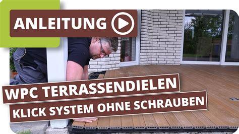 Terrassendielen Verlegen Anleitung 1628 by Wpc Terrassendielen Nur 5cm Aufbau Einfach Verlegen Mit