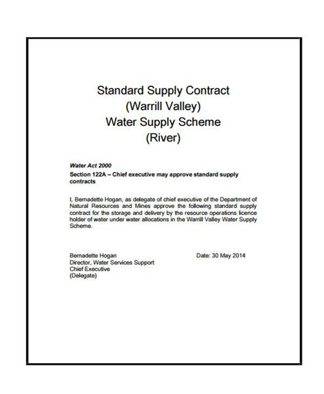water supply agreement template water supply agreement template emsec info