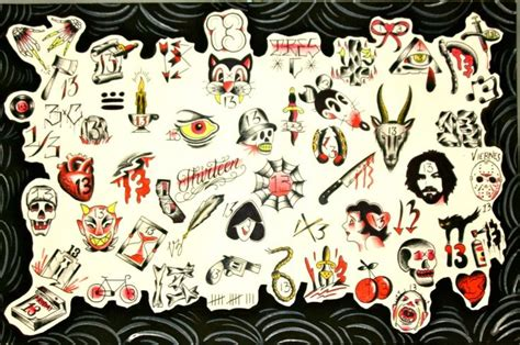 tattoo flash friday the 13th its almost friday the 13th tattoos piercings
