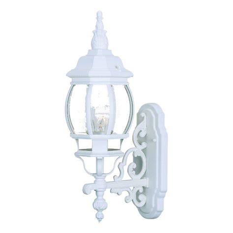 Mounted Light Fixture Acclaim Lighting Chateau Collection 1 Light Textured White Outdoor Wall Mount Light Fixture