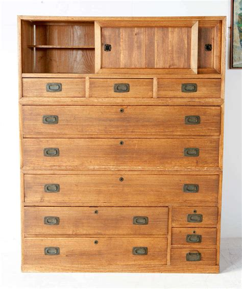 Japanese Chest Of Drawers by Vintage Japanese Three Tansu Chest Of Drawers At 1stdibs