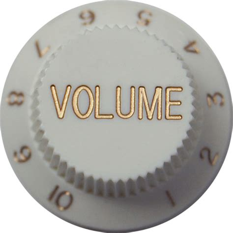 Fender Volume Knob by Strat Volume Knob White