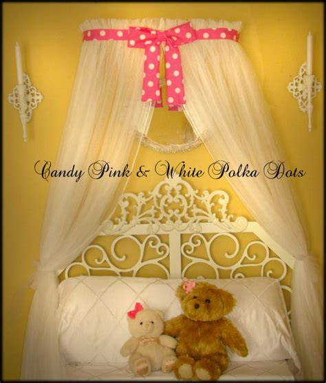 Minnie Mouse Canopy Bed Minnie Mouse Polka Dot Princess Bed Canopy Crown With Curtains