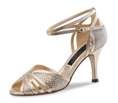 Sandal Brokat Gold nueva epoca damen tanzschuhe scarlet ls leder platin