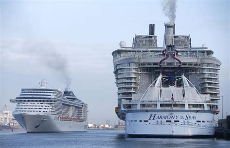 world s largest cruise ship debuts with high energy high what s it like being on board the world s biggest cruise ship