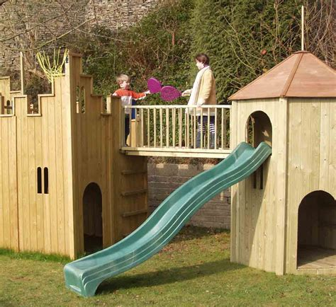 Big Backyard Playhouses All Out Play Castle And Tower Combination Wooden Playhouse
