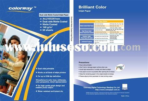 Matte Coated Card Paper 220g 50pcs matte inkjet photo paper photopaper for eco solvent for