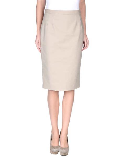 dolce gabbana knee length skirt in beige lyst