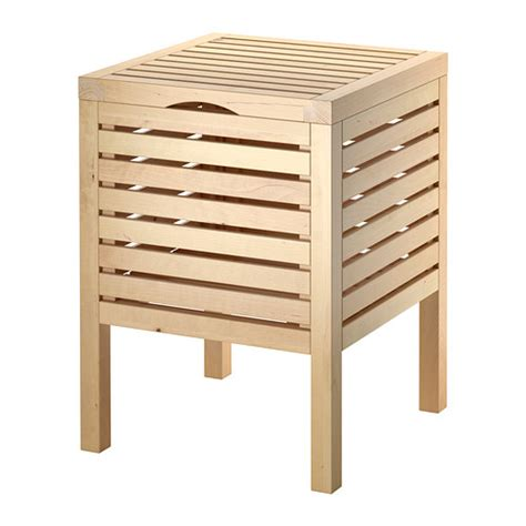 bathroom storage bench molger storage stool birch ikea