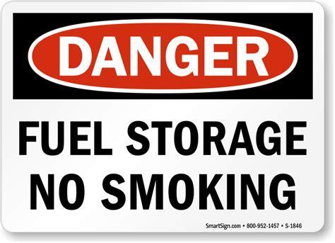 no smoking sign osha fuel storage no smoking sign osha danger sku s 1846