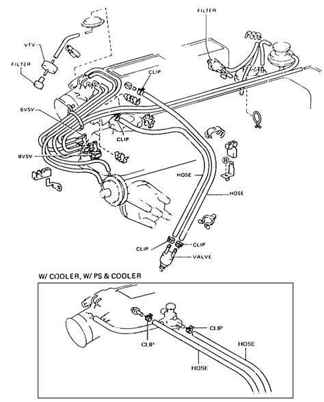 toyota line 1985 toyota pickup 22re vacuum line diagram 1985 free