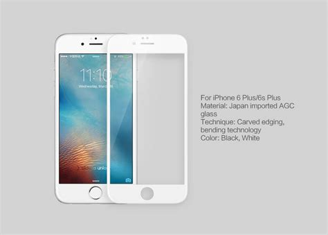 Nillkin Cp Tempered Glass Iphone 6 6s Plus Original Anti Gores Warna nillkin amazing 3d cp max tempered glass screen protector for apple iphone 6 plus 6s plus