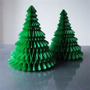 paper tabletop christmas tree decorations by pearl and