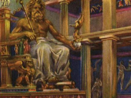 imagenes de la estatua del dios zeus la estatua de zeus maravilla del mundo antiguo mundonets