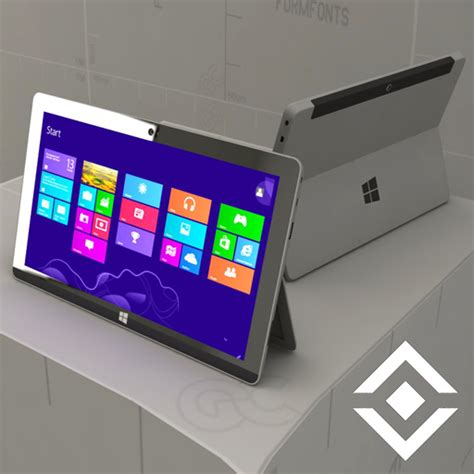 Microsoft Surface Tablet 3D Model   FormFonts 3D Models