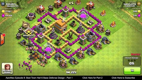 layout for th6 best town hall level 6 th6 base defense design layout