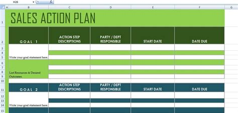 Get Sales Action Plan Template Xls Excel Project Management Templates For Business Tracking Sales Plan Exle