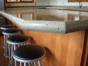 kitchen concrete countertops poured with chair design