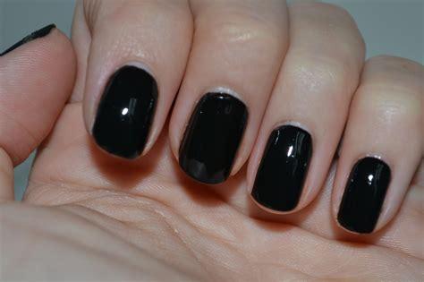 Nail Black black on black