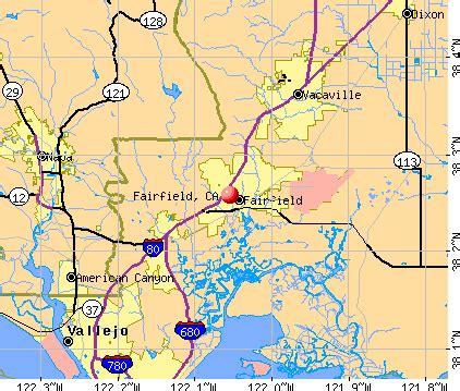 fairfield california us map fairfield california ca profile population maps real