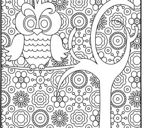 owl mosaic coloring page graphic design coloring pages owl coloring page