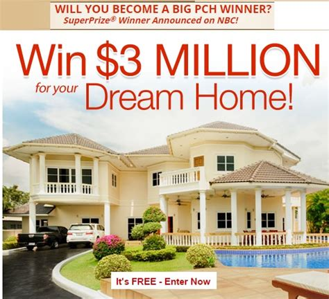 home giveaways pch 3 million dream home sweepstakes sweeps maniac