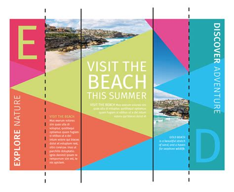 corel draw booklet layout how to create a colorful brochure for print using coreldraw