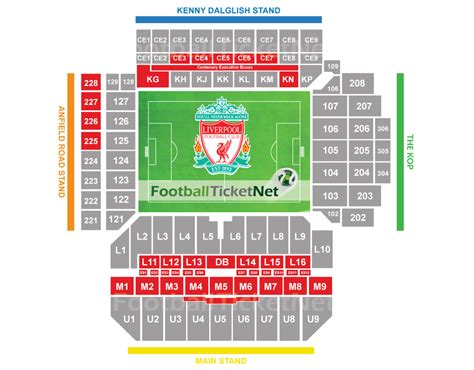 stand seating plan liverpool vs arsenal 27 08 2017 football ticket net