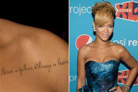 Rihannas Lebenslauf Auf Englisch Gestochen Scharf Und Ihre Tattoos Lifestyle Trends Yahoo Lifestyle