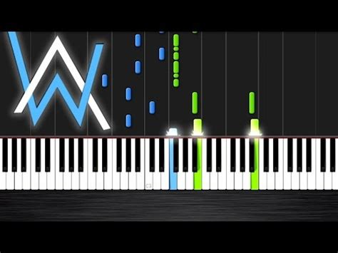 tutorial piano faded alan walker faded piano cover tutorial by plutax youtube