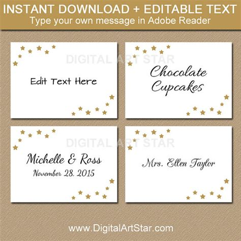 Wedding Card Labels by Editable Wedding Labels Printable Food Labels