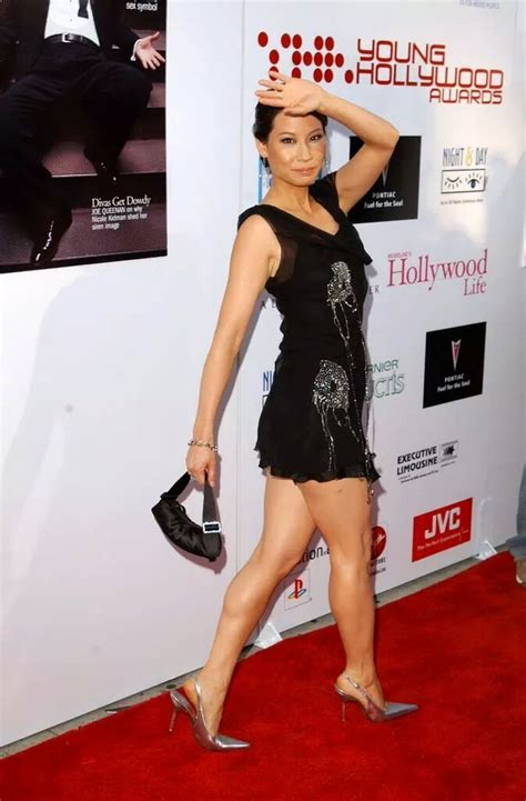 Lius Vire With Carla Gugino by Liu And Fabulous Legs In A Black Dress And