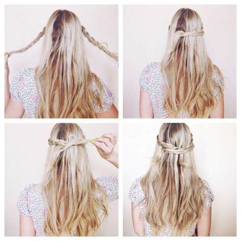 hairstyles easy down braided swoop crown hair tutorials pinterest crown