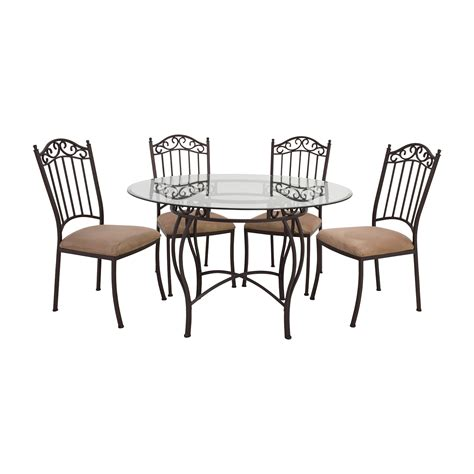 Wrought Iron Dining Table And Chairs 72 Wrought Iron Glass Table And Chairs Tables