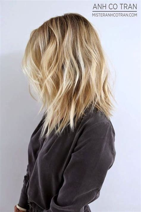 Lob With Soft Curl Hairstyle 30 Best Forward Graduated Layers Images On