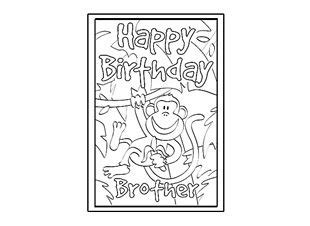 birthday card coloring page template 62 best children s birthday images on