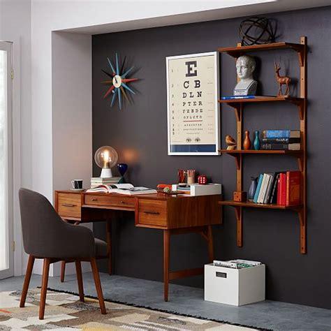 mid century wall desk west elm mid century desk acorn west elm